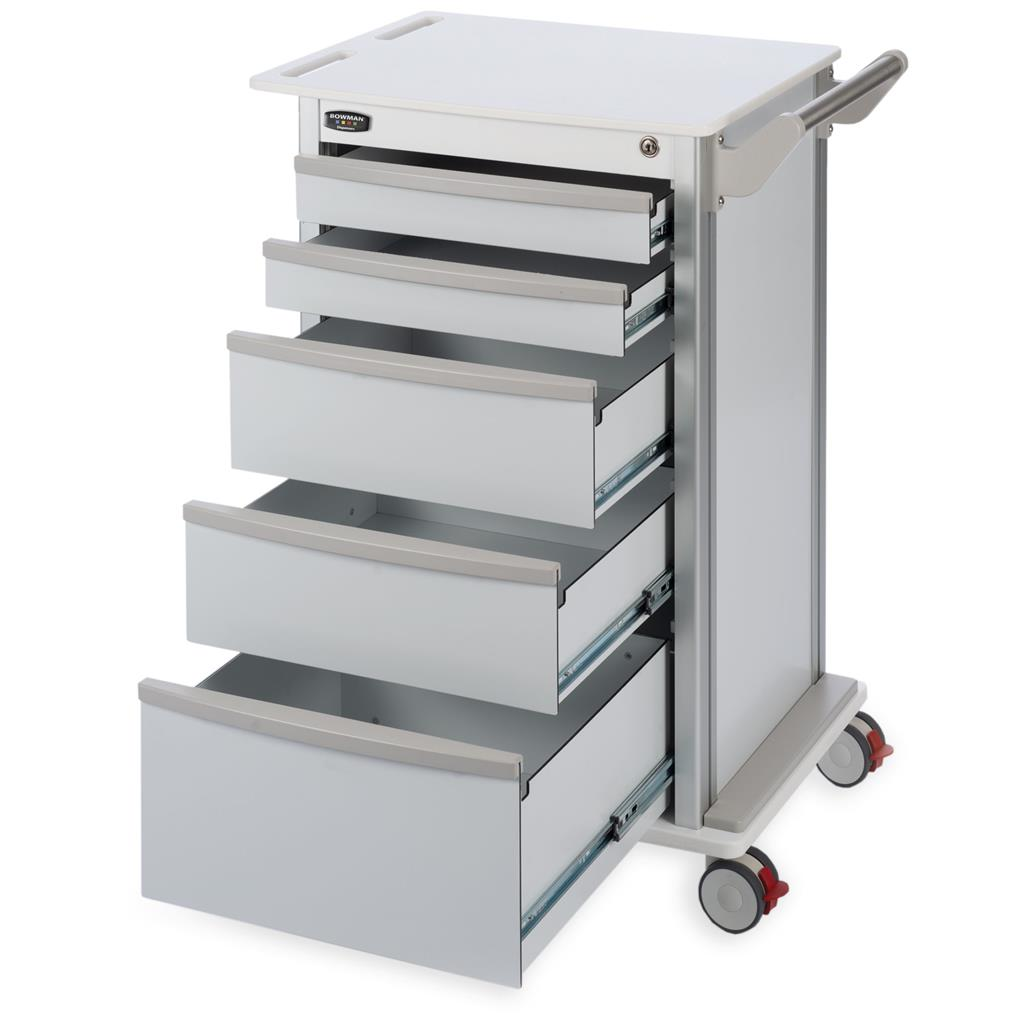 "Wheeled 5-Drawer Storage Cart with 3"" Casters"