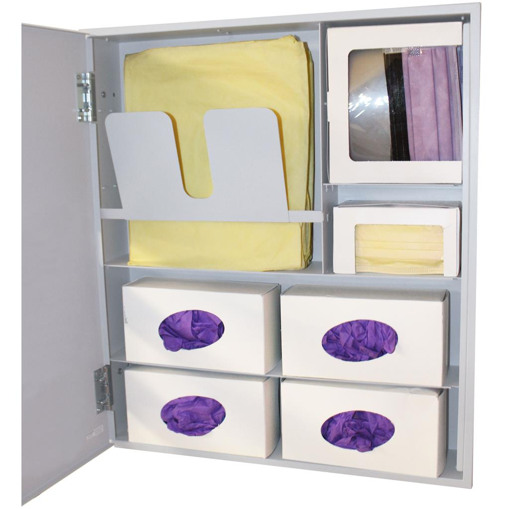 Semi-Recessed - Protective Wear Organizer - Solid Door