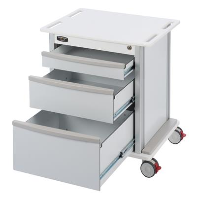 Compact, Undercounter Storage Cart, 3 Drawers