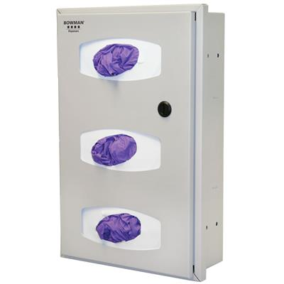 Semi-Recessed - Glove Box Dispenser - Triple